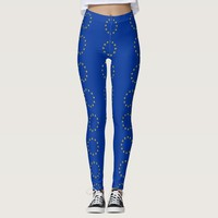 Leggings with flag of European Union