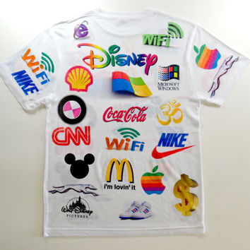 Dystopian future brands of the world corporate sponsor internet punk logo club kid cyber stoner kawaii grunge wifi rave 90s tumblr t shirt
