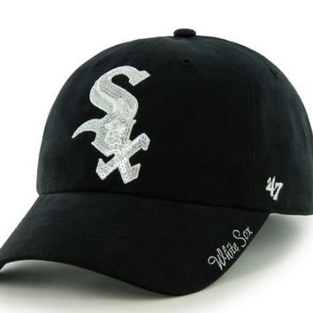 Women's Chicago White Sox Sparkle Adjustable Hat By '47 Brand