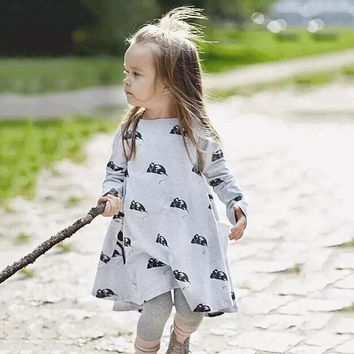 Girls Clothing Dresses Cartoon Printed Mouse Spring & Autumn Style Infant Party Dress Children Princess Dresses Kids Clothes