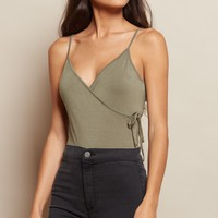 Tie Cross Front Crop Cami