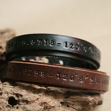2x Matching Bracelet, His and Her Bracelets, Couple Bracelet, Best Friend bracelet, Leather Cuff Bracelet, Personalized leather bracelet