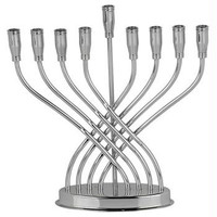 Metal Menorahs - Contemporary Silverplated Menorah