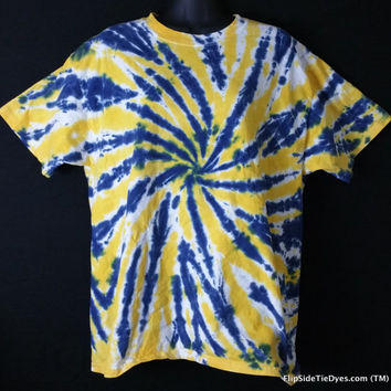 Hand Dyed 2 Color Tie Dye Shirt (Notre Dame)  | Hanes or Gildan | Youth or Adult
