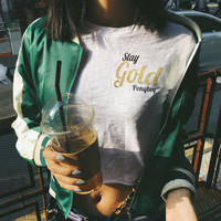 Stag Gold Ponyboy Graphic Tops