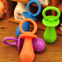 Big Durable Pet Chew Toy Soft Small Rubber Bone Squeaky Dot For Puppy Dog Fine