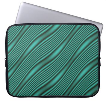 Teal Waves Computer Sleeve