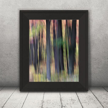 Trees Print, Fall Photography, Home Decor, Nature Print, Nature Decor, Abstract Print, Nature Photography, Abstract Image, Home Wall Art