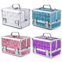 Large Aluminium Rose Butterfly Cosmetic Make Up Box Vanity Jewellery Saloon Case = 1697507652