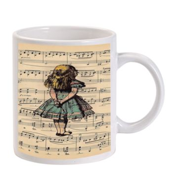 Gift Mugs | Alice In Wonderland Note Alive Cartoon Ceramic Coffee Mugs