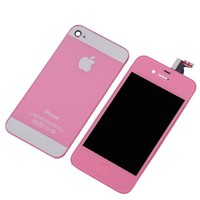 Generic LCD And Touch Screen Replacement + iPhone 5 Style Back Glass Door + Opening Tools Kit for iPhone 4 CDMA Verizon/Sprint (Pink)
