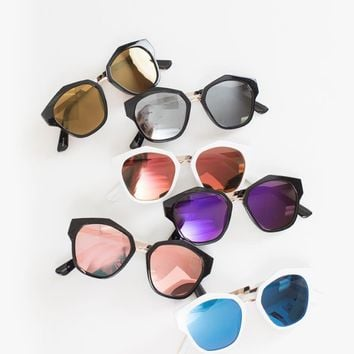 Tina Retro Geometric Sunglasses
