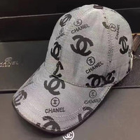 CHANEL  high quality Adjustable Woven net cap hat gray