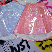 SWEET LORD O'MIGHTY! Hologram Skater Skirt