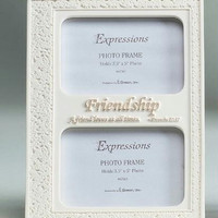 "Inspirational Photo Frame - Holds 2 3.5 ""  X 5 ""  Photos"