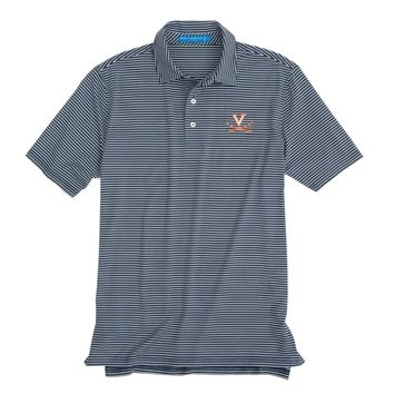 University of Virginia Cavaliers Striped Performance Polo Shirt by Southern Tide