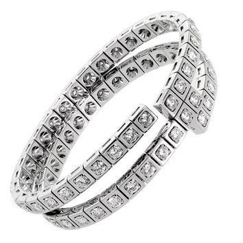 Cartier Diamond Gold Wrap Tennis Bracelet