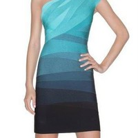 Herve Leger one-shoulder graident dress - $291.00