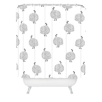 Kangarui Guinea Fowls On Safari Shower Curtain