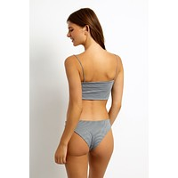 Jimi Full Coverage Bikini Bottom - Gingham