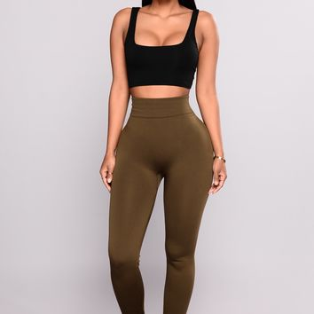 Yes Fleece II Leggings - Olive