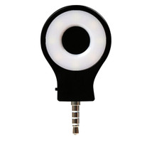 New Fashion Black 3.5mm LED Lamp External Flash Fill Light Adjustable Light Selfie for Cellphone 1pc