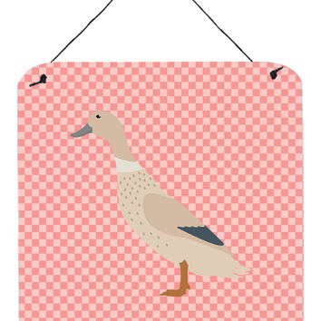West Harlequin Duck Pink Check Wall or Door Hanging Prints BB7858DS66