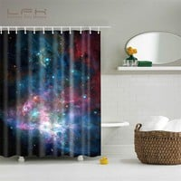 Shining Stars Space Cool Universe Shower Curtain