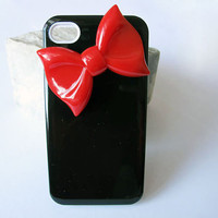 Iphone 4/4S case - Iphone 4s case, Iphone 4/4S case with Hello Kitty Bow