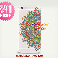 Mandala Clear Phone Case Cover , Personalized Clear iPhone 6 6s Case , Crystal Clear iPhone 6 6s plus Case , Custom Clear iPhone 6 6s Case
