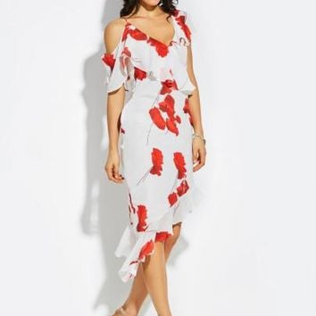 Spaghetti Strap Cotton Blends Mermaid Vacation Women's Party Dress