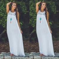 Women Boho Sexy Sommer Strand Abend Lang Maxi Dresses