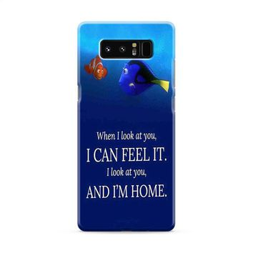 Dory and Nemo Quotes Samsung Galaxy Note 8 Case