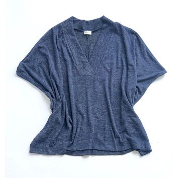 Loose Fit Drape Pullover
