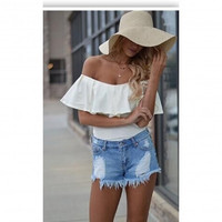 White Off Shoulder Tops