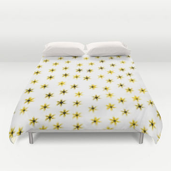 Daisy Flower Bed Cover - Duvet Cover Only - Bed  Spread - Comforter - Daisy Flower Art - Made to Order