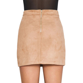 2106 Summer Autumn Mini Bandage Skirts Chic Pencil Skirts Faux Leather Jupes Package Hip Slim Women Female Ladies Underdress