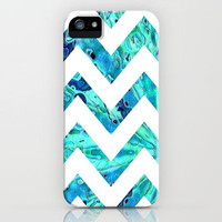 Arctic Blast Chevron iPhone Case by Gretzky | Society6