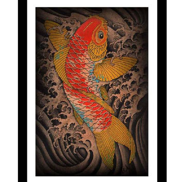 Koi Art Print by Artist Clark North