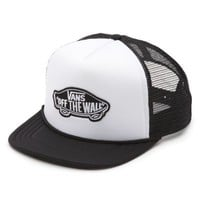 Vans Classic Patch Trucker Hat (White/Black)