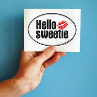 Hello Sweetie Doctor Who bumper sticker