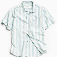 UO Broad Stripe Short Sleeve Button-Down Shirt | Urban Outfitters