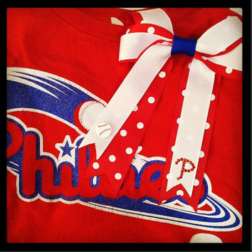 Philadelphia Phillies Inspired Hair Bow