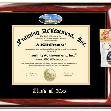 AllGiftFrames Custom Diploma Frame Embossed College University of Saint Joseph Best Graduation Degree USJ Frame Double Mat Campus Fisheye Picture Frame Cheap Graduate Gift