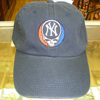 Steal Your New york Yankees Grateful Dead Style Baseball Cap Hat BLUE