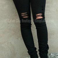 THE MALLORY SKINNY JEAN IN BLACK
