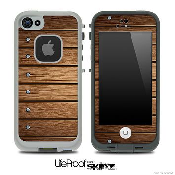 Bolted Wood Planks Skin for the iPhone 5 or 4/4s LifeProof Case