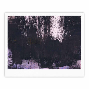"Iris Lehnhardt ""Brushstrokes 1"" Gray Abstract Fine Art Gallery Print"