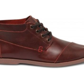 TOMS+ Oxblood Leather Ridge Men's Botas