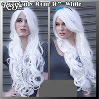 """Cosplay Wigs USA™  Curly 90cm/36"""" - White -00336"""